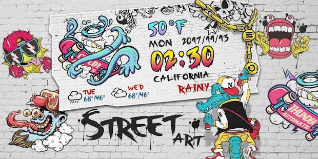 Street Art GO Weather Widget Theme - náhled