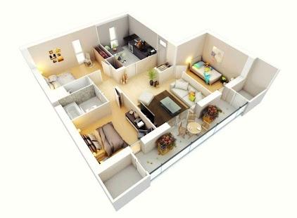 3D návrh domu - náhled