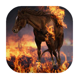 download Burning horse live wallpaper apk