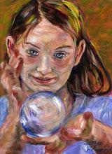 Photo: Jasmine with a Crystal Ball