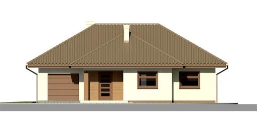 Dom przy Altanowej 2 - Elewacja przednia