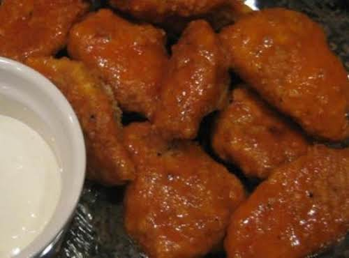 "Boneless Buffalo Chicken Bites""I just made these for my family and they..."