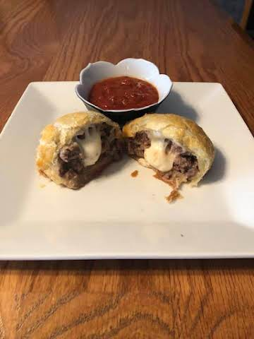 Mozzarella Stuffed Meatballs in a Blanket
