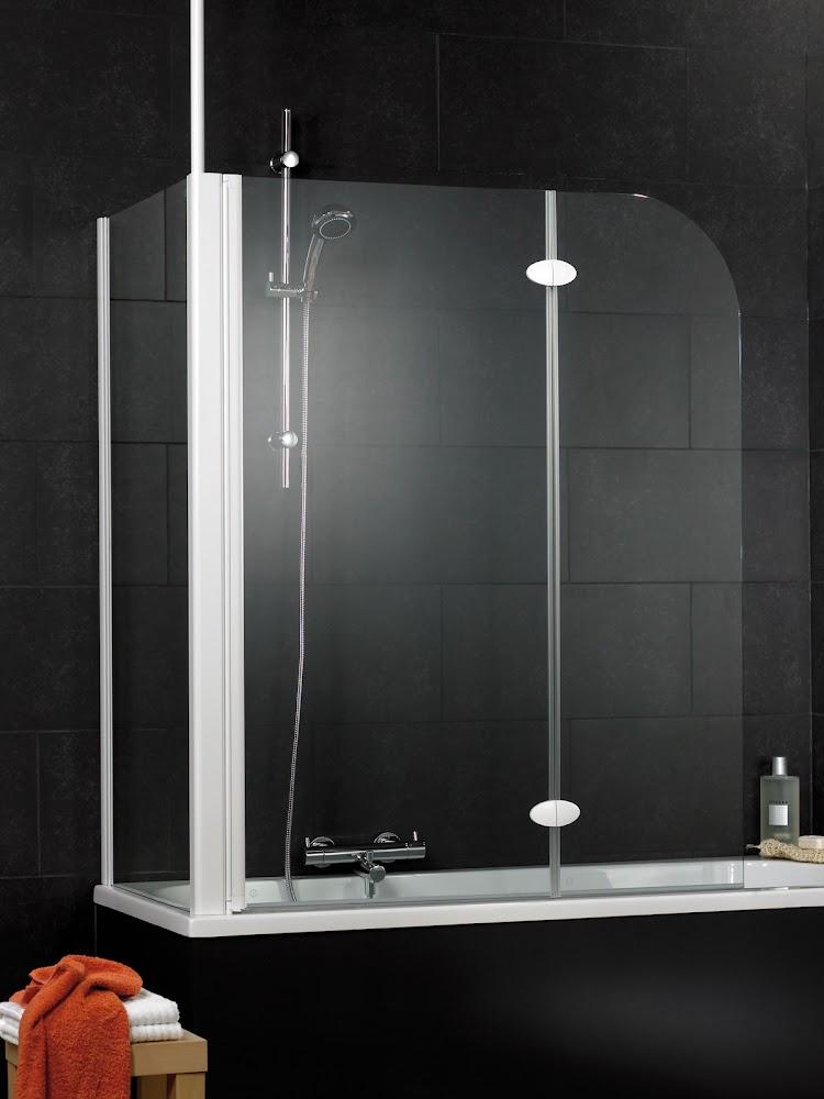Badewannenfaltwand Faltwand Duschwand OHNE BOHREN 2-teilig Seitenwand 700 mm Heimwerker-Produkte für Bad & Küche Heimwerker