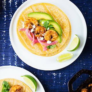 Spicy Skillet Shrimp Tacos.