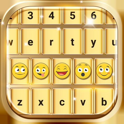 Gold Emoji Keyboard Changer Icon