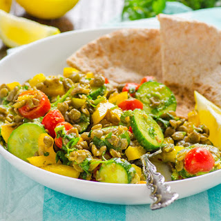 Lentil Salad with Moroccan Coconut Dressing.