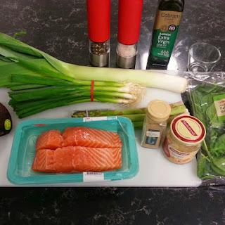 Baked Salmon with Avocado Sauce Recipe