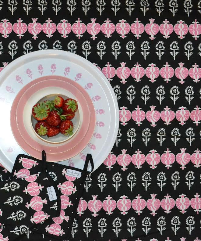 Bomullstyg - Temptation rosa
