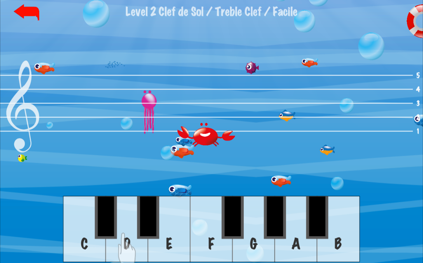 Music Crab-Learn to read music notes- screenshot