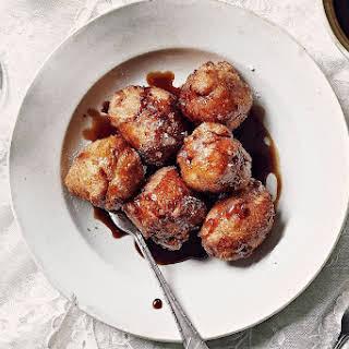 Jamie Oliver's easy doughnuts in anise caramel.