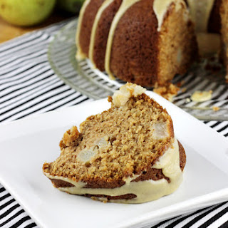 Pear Bundt Cake with Vanilla Bean Caramel.