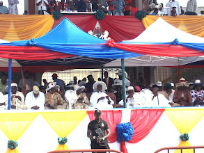 Photo: Lagos State Governor, Babatunde Raji Fashola and other personalities at the VIP section