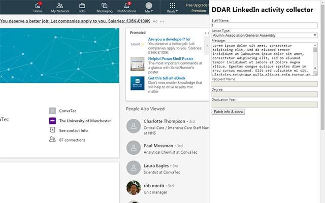 Faculty Facing LinkedIn outgoing comms
