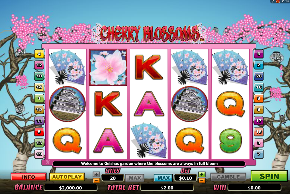 Cherry Blossom Slots Machine Review
