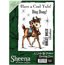 Sheena Douglass A6 Unmounted Rubber Stamp - Dashing Deer UTGÅENDE