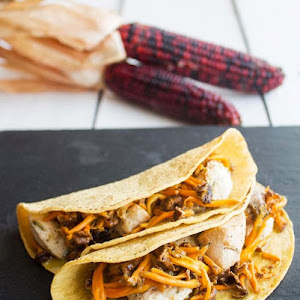 Chicken Tacos with Camagrocs Mushrooms
