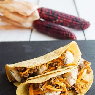 Chicken Tacos with Camagrocs Mushrooms.