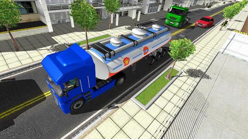 Big Oil Tanker Truck US Oil Tanker Driving Sim screenshots 13