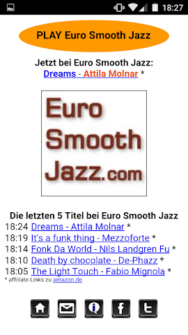 android Euro Smooth Jazz Player Screenshot 1