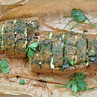 Whole Grain Stuffed Bread with Cheese and Herbs Recipe