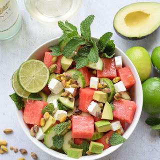 Watermelon Feta and Cucumber Salad.