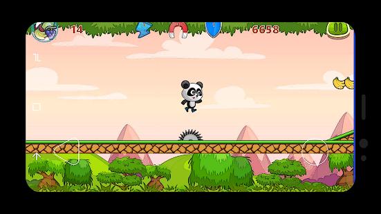 Adventure Forest - Super Panda running on jungle - náhled