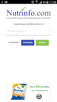Screenshot of Vademecum Nutrinfo