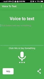 Voice to text Screenshot