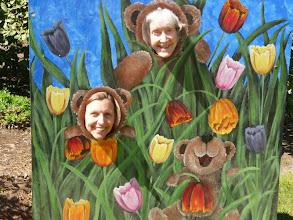 Photo: At the Tulip farm: Aimee and Karen bears!