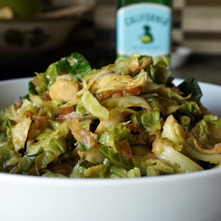 Warm Brussels Sprouts Salad (vegan).