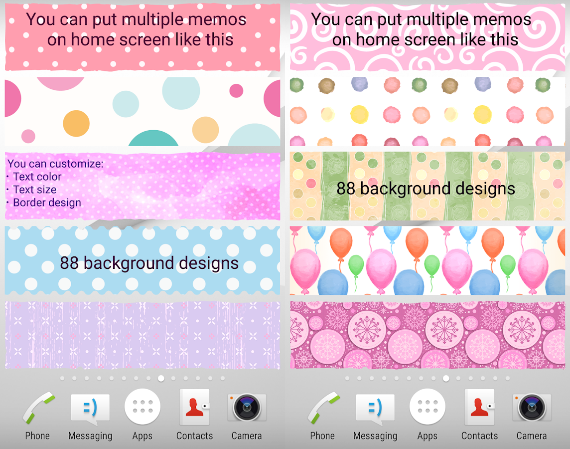 Sticky Memo Notepad *Dots*- screenshot