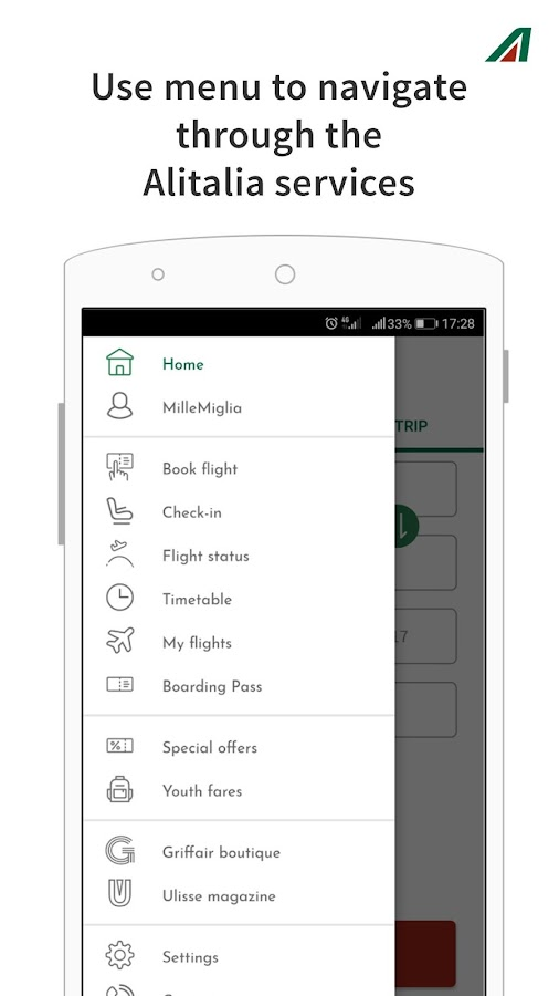 Alitalia- screenshot