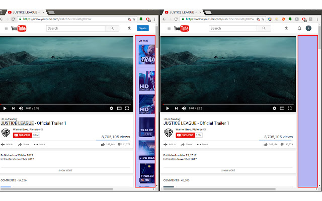 Youtube Recommended Video Block
