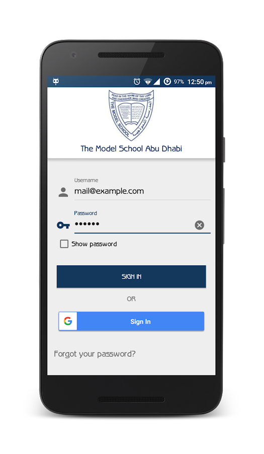 Model School AUH Parent App- screenshot