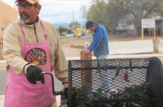 Photo: Roasting green chiles, Santa Fe Farmers Market