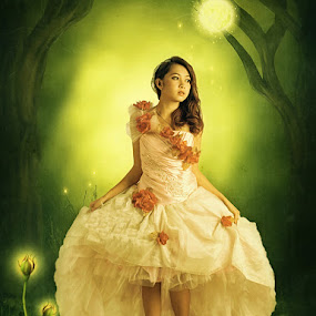 Princess Flower in My Dream World by Adiie Winata - Digital Art Places ( fashion, women )