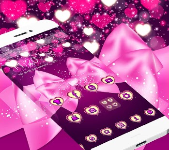 beauty pink bow theme beauty pink wallpaper - náhled