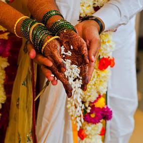 by Sudheer Hegde - Wedding Ceremony ( wedding, white, india, sudheer, nikon, bride, flowers )