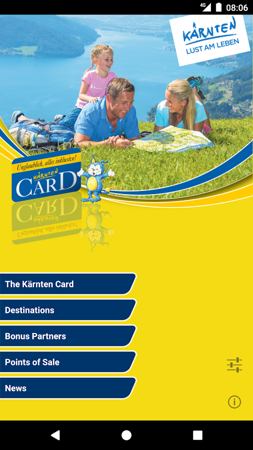 Kaernten Card- screenshot
