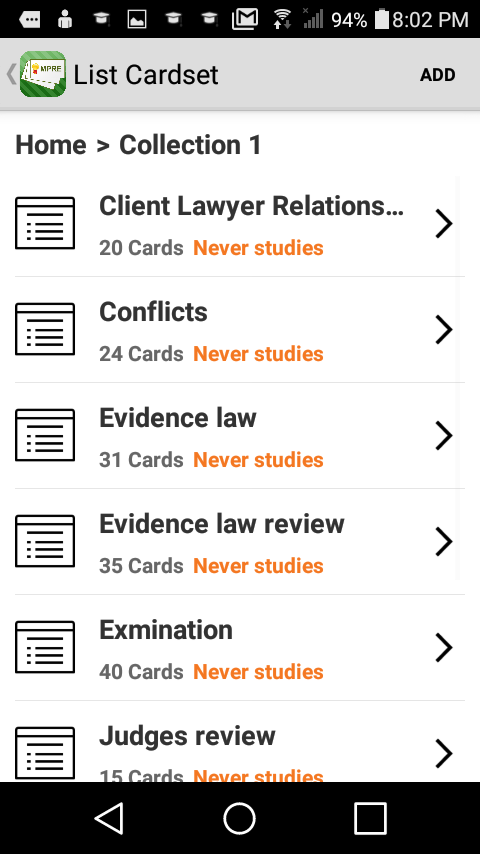 MPRE Flashcards- screenshot