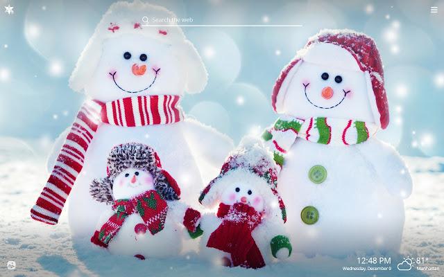 Snowman HD Wallpapers New Tab Theme