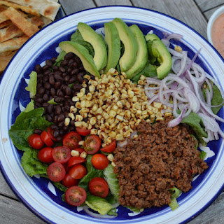 Taco Salad with Chipotle Salsa Dressing