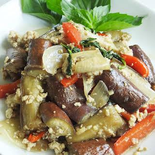 Eggplant Thai Basil Sauce.