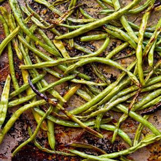 Garlic & Orange Roasted Green Beans.