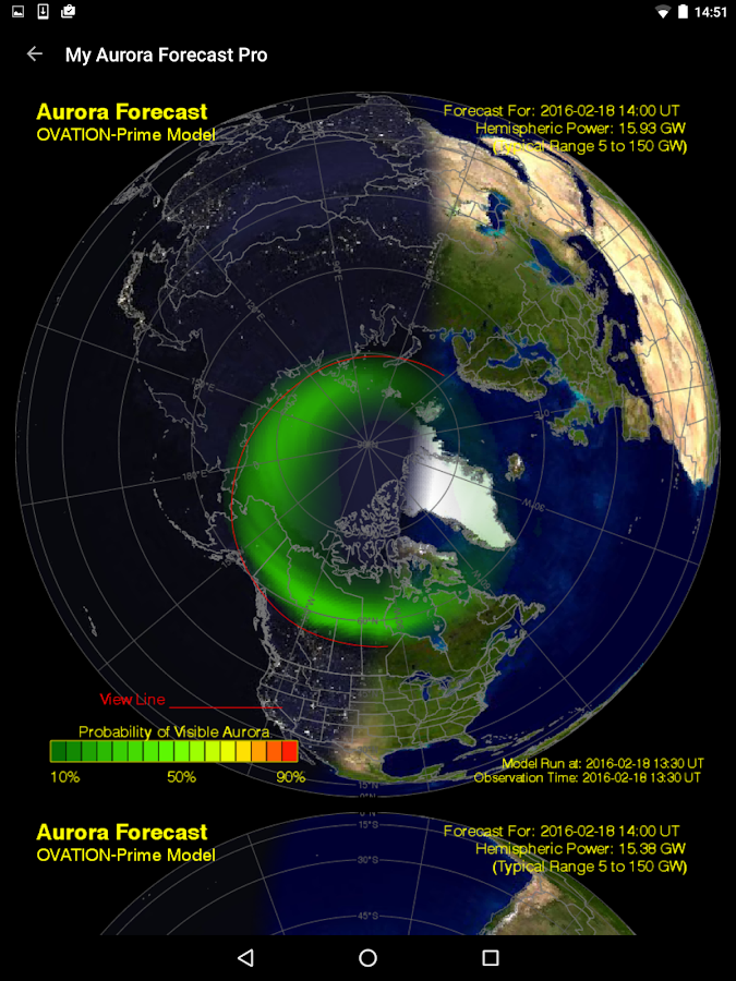 My Aurora Forecast - Aurora Alerts Northern Lights- screenshot