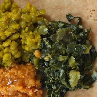 Vegan Ethiopian Trio with Quick Injera