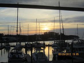 Photo: Sunset at Dozier's Reggata Point Marina.