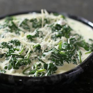 Creamy Boursin Spinach.