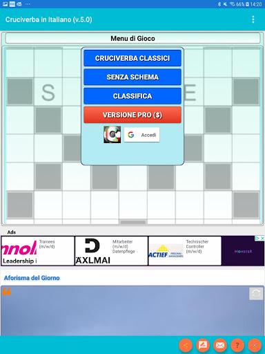 Italian Crossword Puzzles - Advanced Level 7.5 9
